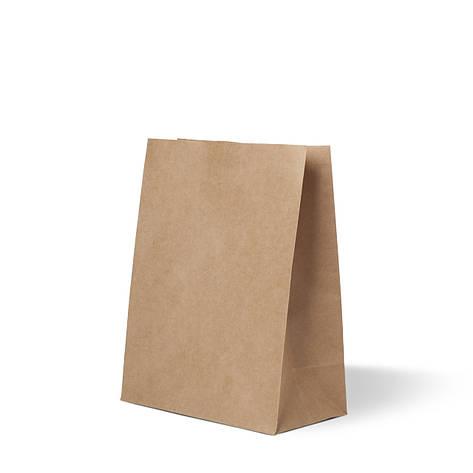 Бумажный пакет 230х110х290 бурый без ручек, плотность 90г/м², фото 2