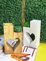 Подсвечник со стабилизированного Мха из двух элементов Корпоративные подарки Оригинальный Декор для дома кафе