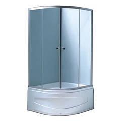 Душевая кабина 100*100*194 глубокий поддон 45/26 см, стекло fabric профиль хром Fabio