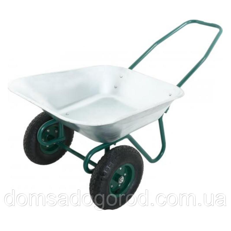 Тачка садово-будівельна 2-х - колісна 140 л. 80 кг «ВектоРВ» WB6211
