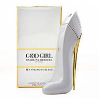 Женские духи Carolina Herrera Good Girl White 80ml EDP (Парфюм Каролина Эррера Гуд Герл Вайт) Белая туфельк