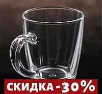 """Набор 12 Кружка стеклянная 340 мл """"Mugs 55531"""" 1шт."""