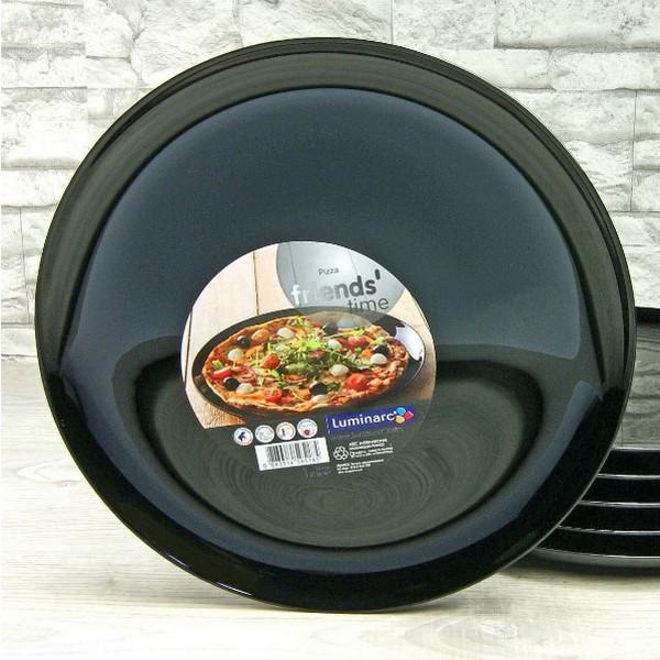 Блюдо чёрное круглое для пиццы Luminarc Friend Time BLACK 320 мм (M0066)