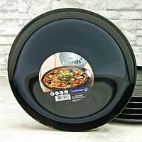 Блюдо чёрное круглое для пиццы Luminarc Friend Time BLACK 320 мм (M0066), фото 1