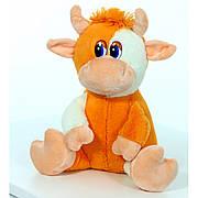 Мягкая игрушка Бычок оранжевый, размер 27см