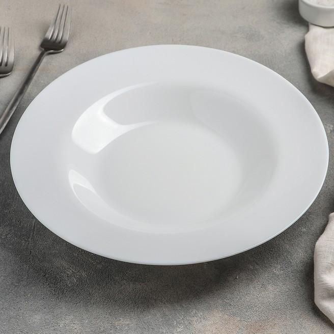 Белая тарелка для пасты Luminarc Friend Time 285 мм (C8018)