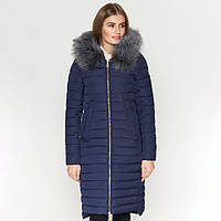 Зимняя женская куртка пуховик удлиненная с мехом Kiro Tokao