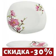 "Набор 12 Тарелка квадратная 245 мм ""Сакура"""