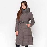 Зимняя женская куртка пуховик удлиненная с поясом Kiro Tokao