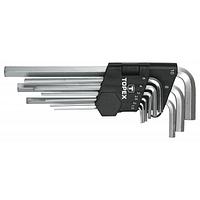 Набор инструментов Topex ключи шестигранные HEX 1.5-10 мм, набор 9 шт.*1 уп. (35D956)