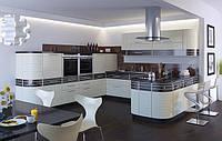 Белая кухня с крашеными фасадами Киев, фото 1