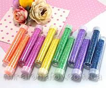 Набір неонових блискіток (гліттера), 12 пляшечок, 6 кольорів, МІКС