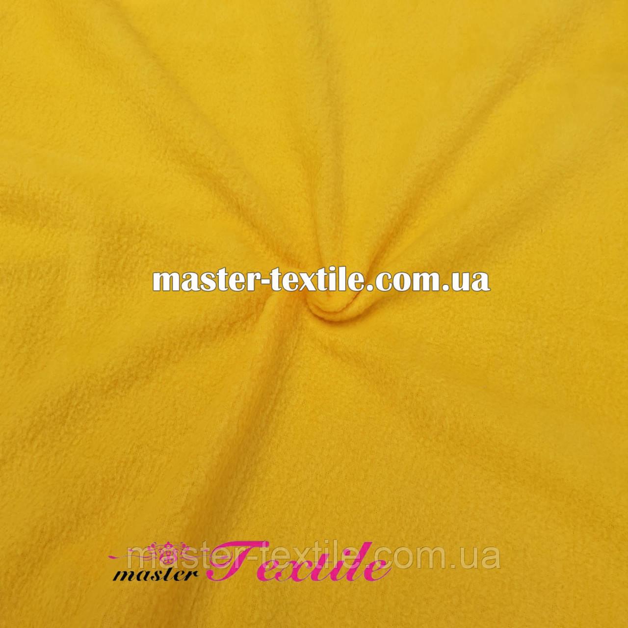 Флис однотонный (желтый)