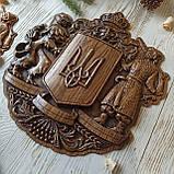 """Панно резное из дерева. """"Герб Украины"""", фото 3"""