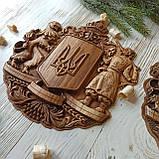 """Панно резное из дерева. """"Герб Украины"""", фото 4"""