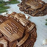 """Панно резное из дерева. """"Герб Украины"""", фото 6"""