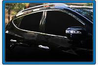 Хром  окантовка боковых стекол Hyundai IX-35, 10 шт нерж