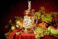 Картина натюрморт с фруктами (холст, масло)