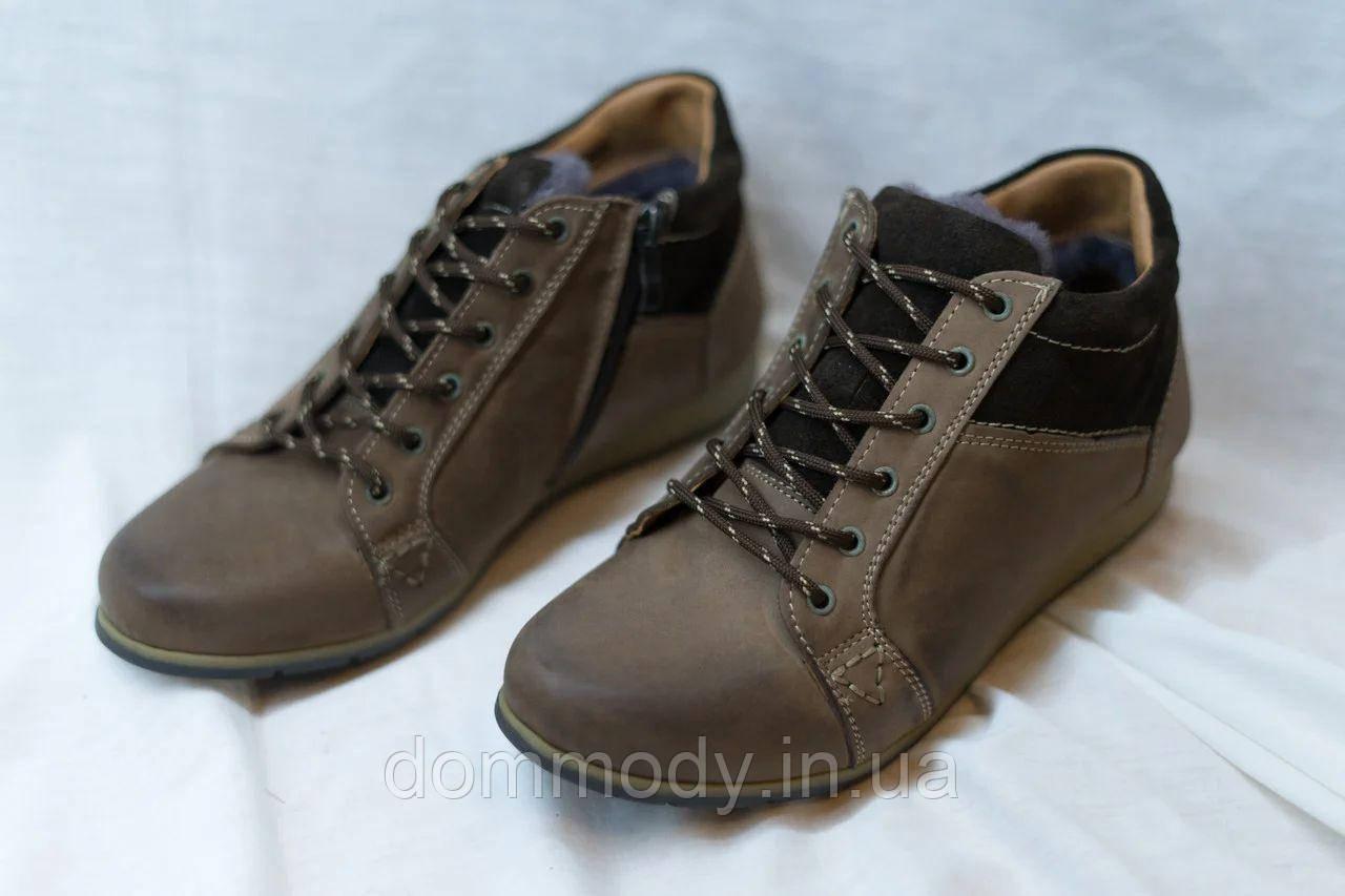Ботинки мужские из кожи Easy comfort зимние