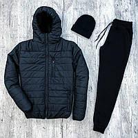 Мужской бомбер + утепленные штаны. Комплект мужской куртка+ штаны. Шапка в подарок, фото 1