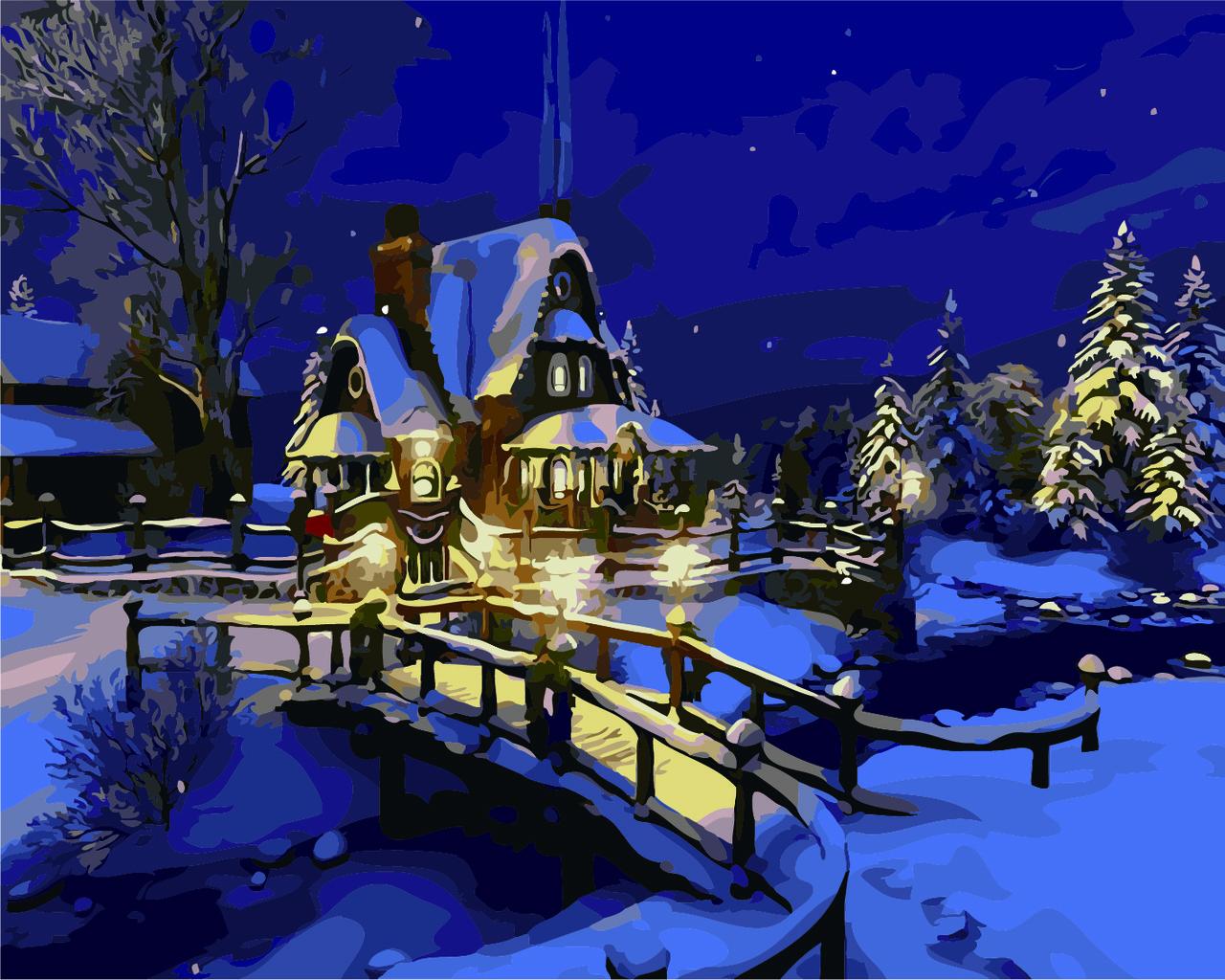 """Картина по номерам """"Рождественский вечерок"""" тм Лавка Чудес 40 x 50 см (в коробке) (LC30026)"""