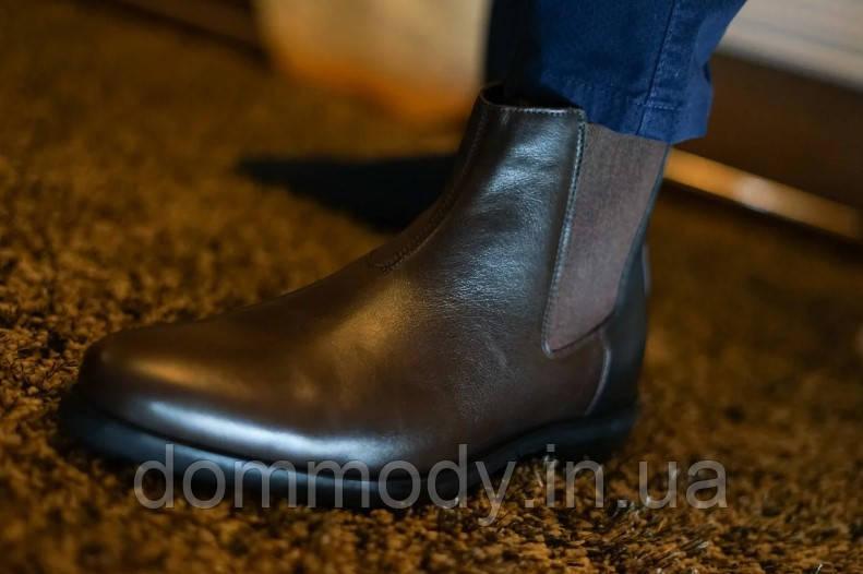 Чоловічі черевики челсі коричневого кольору Easy comfort зимові