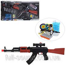 Автомат с пулями и мишенью AK47