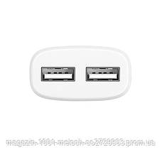 СЗУ адаптер 220V HOCO C12 2USB + кабель iPhone 2.4A, фото 2