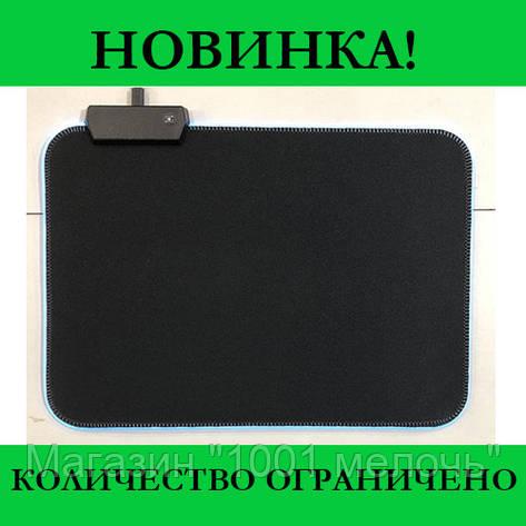 Коврик для мышки RGB S-350 с подсветкой, фото 2