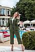 Женский костюм-тройка с майкой, брюками и жакетом, размеры 42-46, фото 5