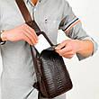 Мужская сумка Alligator BAG B (коричневый, чёрный), фото 6