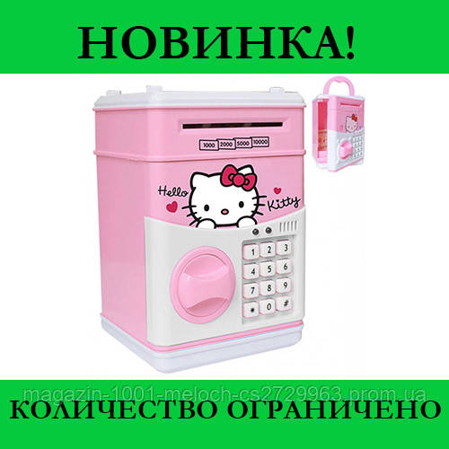 Игрушечный детский сейф копилка Hello Kitty Миньон