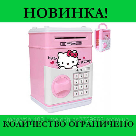 Игрушечный детский сейф копилка Hello Kitty Миньон, фото 2