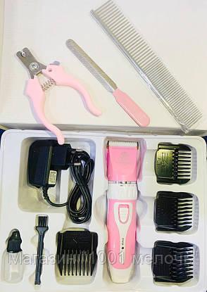 Аккумуляторная машинка триммер для стрижки животных Pet Clipper Kit, фото 2
