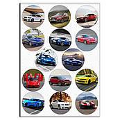 Капкейки-6 см Автомобили 1 вафельная картинка