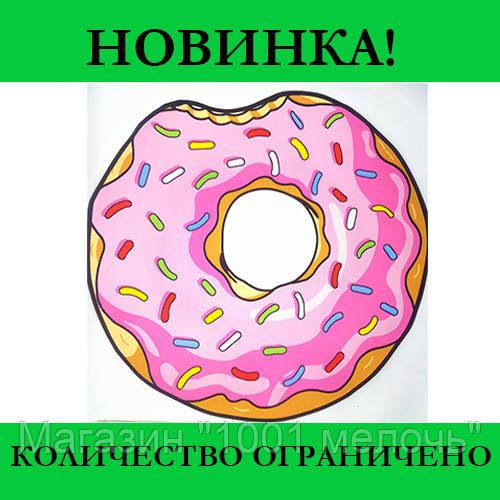 Коврик 3D Пончик круглый безворсовый 80 х 80 см