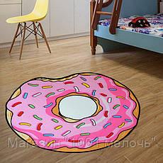 Коврик 3D Пончик круглый безворсовый 80 х 80 см, фото 3