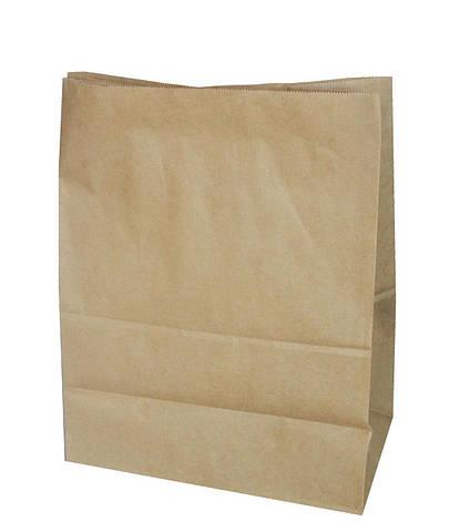 Бумажный пакет 320х150х380 бурый без ручек, плотность 100г/м2, фото 2