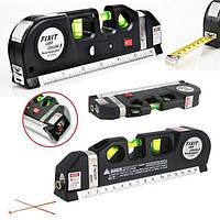 Лазерный уровень нивелир со с встроенной рулеткой fixit laser level 3в1 lv03 лазерний рівень жидкостныйЛинейка
