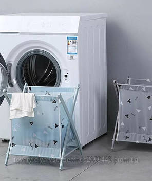 Корзина для белья Laundry Storage Basket Серая, фото 2