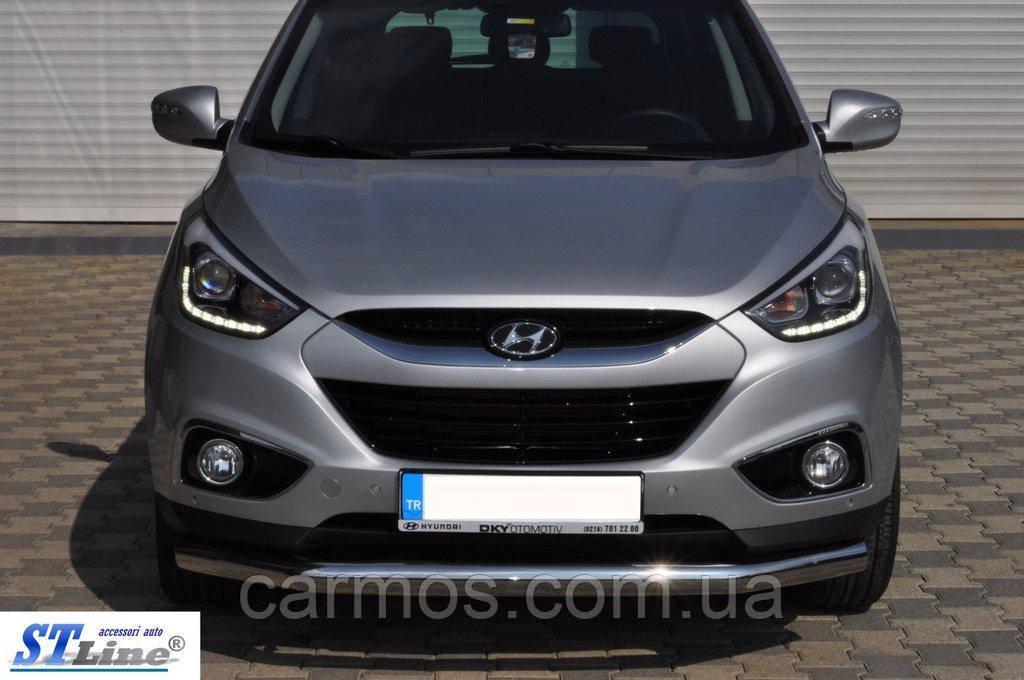 Передняя дуга ST008 для Hyundai IX-35, 60 мм,  нерж. Турция