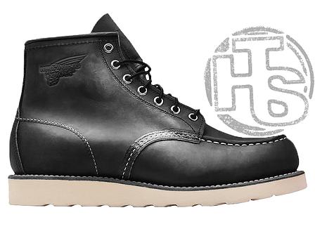 Зимові черевики Red Wing USA Classic Moc 6-inch Boot 8424890 Black 8849 (позов. хутро), фото 2