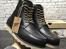 Зимові черевики Red Wing USA Classic Moc 6-inch Boot 8424890 Black 8849 (позов. хутро), фото 3