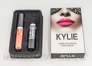 Набор помада + блеск Kylie Jenner Lipstick Lip Gloss 2 in 1- Новинка, фото 3