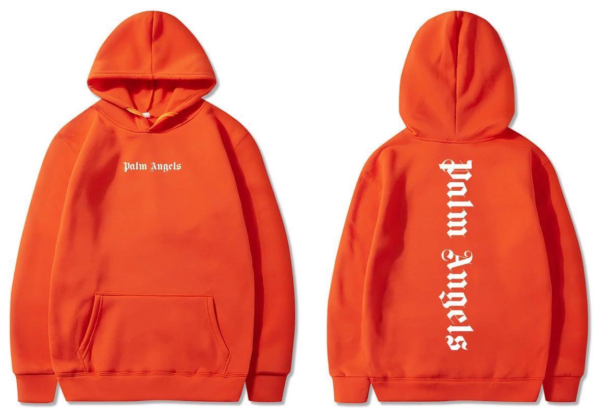 Худи Palm Angels 2020 оранжевое (мужская,детская,женская) унисекс