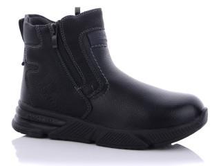Ботинки детские Леопард-B3901-8 черные (раз.с 32 по 37)