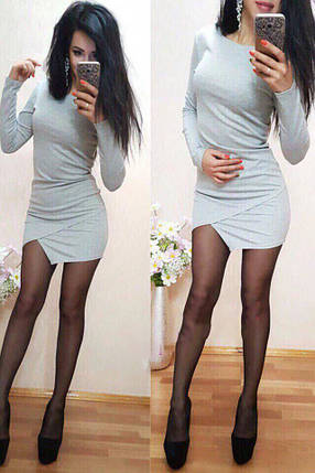 Платье мини обтягивающее низ юбка тюльпан, фото 2