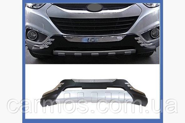 Передняя пластиковая накладка V2 для Hyundai IX-35  ABS-пластик