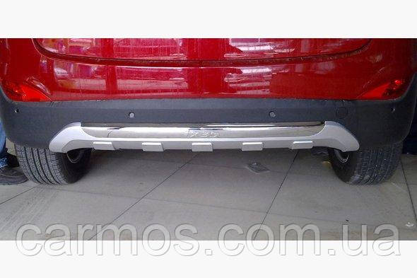 Задняя пластиковая накладка V2 для Hyundai IX-35  ABS-пластик