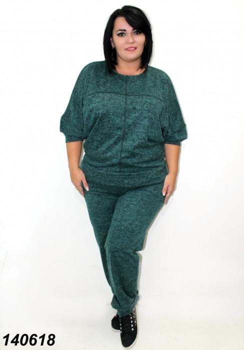 Женский  спортивный костюм большого размера зеленый 50,52,54 56